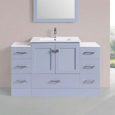 Luci Modern 54 Single Bathroom Vanity Set Base Finish: Gray