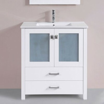 Lyn Modern 30 Single Bathroom Vanity Set Base Finish: White