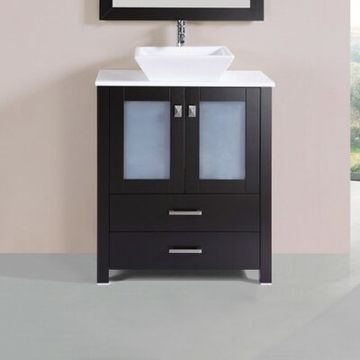 Lyn Modern 30 Single Bathroom Vanity Set Base Finish: Espresso