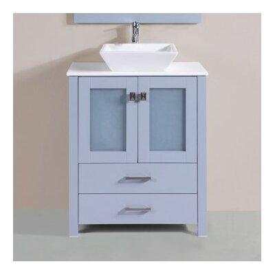 Lyn Modern 30 Single Bathroom Vanity Set Base Finish: Gray
