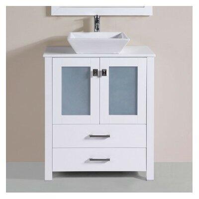 Lyn Modern 30 Single Bathroom Vanity Set Base Finish: White