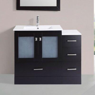 Terese Modern 42 Single Bathroom Vanity Set Base Finish: Espresso