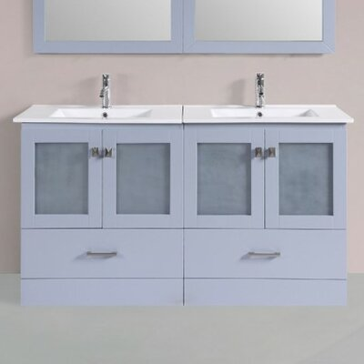 Terese Modern 60 Double Bathroom Vanity Set Base Finish: Gray