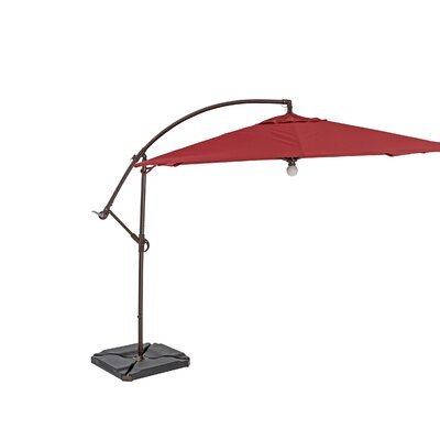 10 Square Cantilever Umbrella Color: Henna