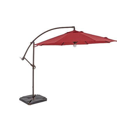 9 Square Cantilever Umbrella Color: Jockey Red