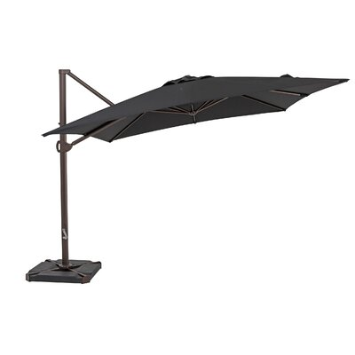 10 Square Cantilever Umbrella Color: Black