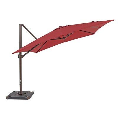 10 Square Cantilever Umbrella Color: Jockey Red