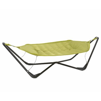Gondola Cotton and Polyester Hammock with Stand Color: Apple Green