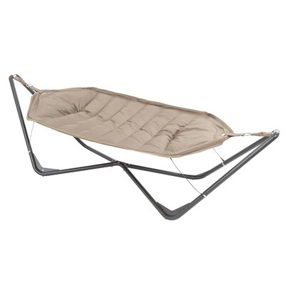 Gondola Cotton and Polyester Hammock with Stand Color: Tan