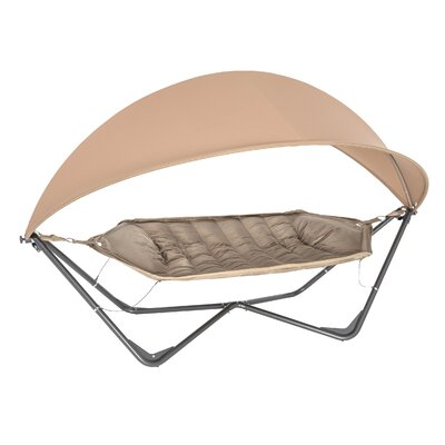 Gondola Polyester Hammock with Stand Color: Tan