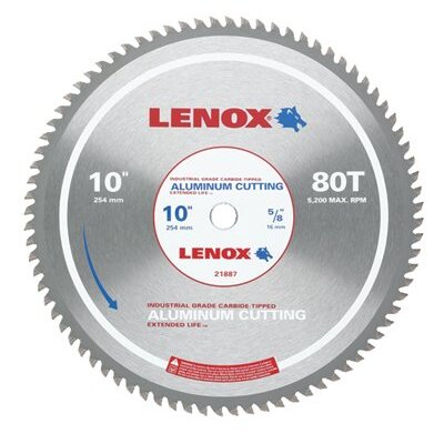 "Lenox Tools Metal Cutting Circular Saw Blades - 10"" 80t aluminum metal cutting saw blade at Sears.com"
