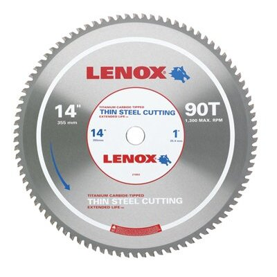 "Lenox Tools Metal Cutting Circular Saw Blades - 14"" 90t thin steel metalcutting saw blade at Sears.com"