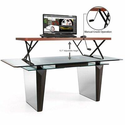 13.7 H x 47.2 W Standing Desk Conversion Unit Finish: Cherry