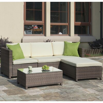 Patio 5 Piece Seating Group with Cushions