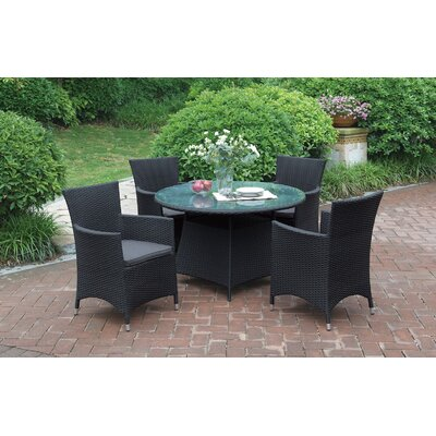 5 Piece Dining Set Color: Modern Black
