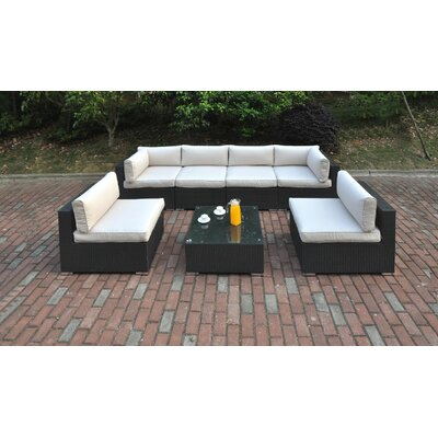 7 Piece Deep Seating Group with Cushion