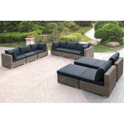 Image of 10 Piece Sectional Set with Cushions