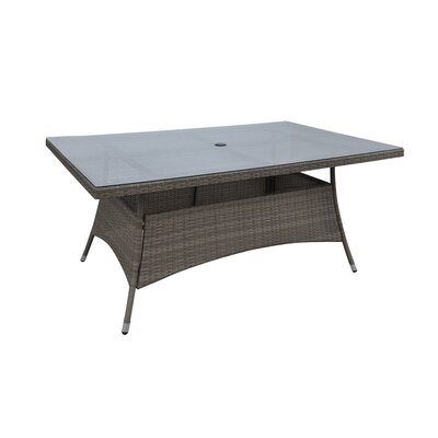 Patio Wicker Dining Table Finish: Light Brown