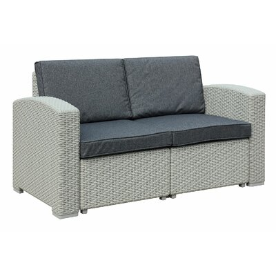 Ilka Loveseat with Cushions Finish: Light Gray
