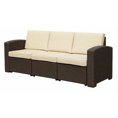 Ilka Sofa with Cushions Finish: Dark Brown