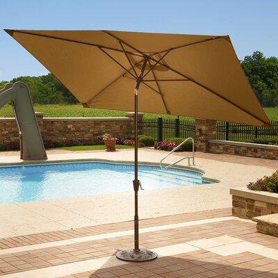 6.5 x 10 Adriatic Rectangular Market Umbrella Color: Stone