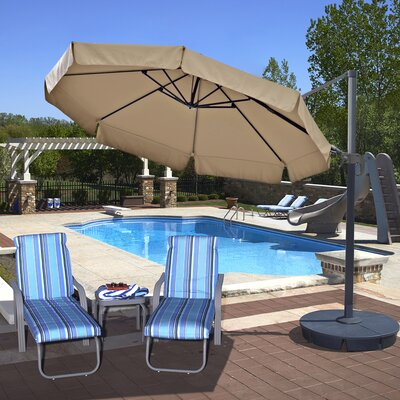 11 Freeport Cantilever Umbrella Color: Beige