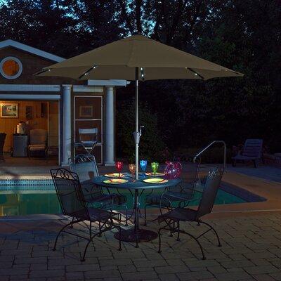 9 Mirage Illuminated Umbrella Color: Stone