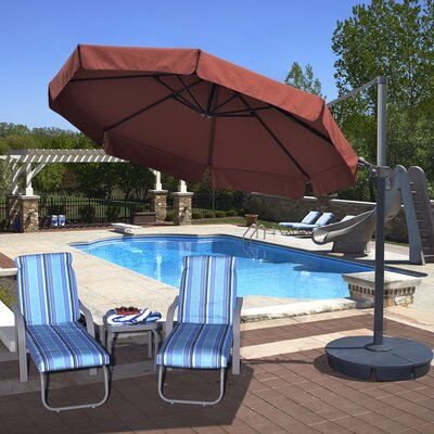11 Freeport Cantilever Umbrella Color: Terra Cotta