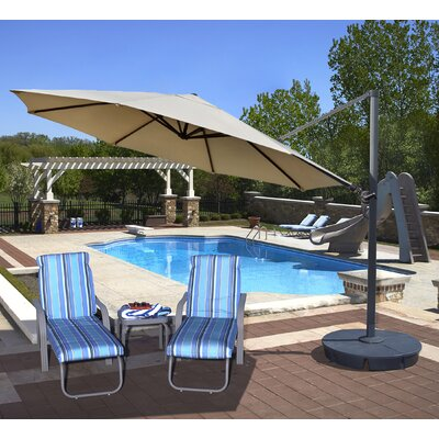13 Victoria Cantilever Umbrella Color: Beige