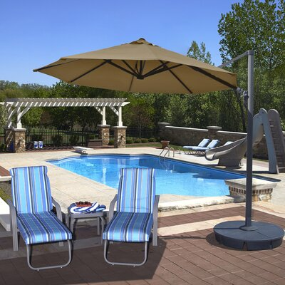11 Freeport Cantilever Umbrella Color: Stone