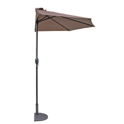 Lanai 9 ft. Half Market Umbrella