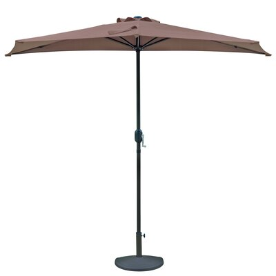 Lanai 9 ft. Half Market Umbrella