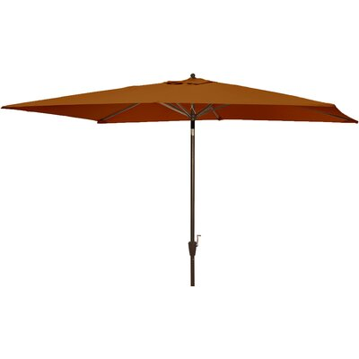 6.5 x 10 Adriatic Rectangular Market Umbrella Color: Terra Cotta