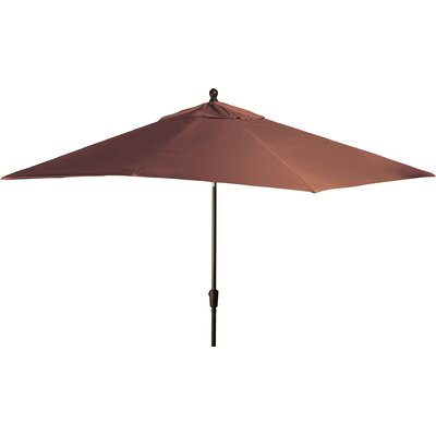 8 x 10 Caspian Rectangular Market Umbrella Color: Terra Cotta