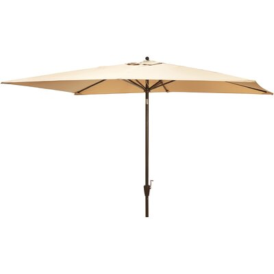 6.5 x 10 Adriatic Rectangular Market Umbrella Color: Beige