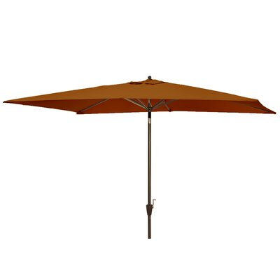 Dena 6.5 x 10 Rectangular Market Umbrella Fabric: Olefin Terra Cotta