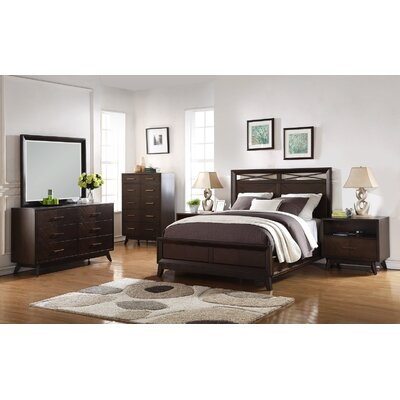 Metropole Panel Customizable 6 Piece Bedroom Set Size: King