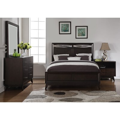 Metropole Panel 4 Piece Bedroom Set Size: King