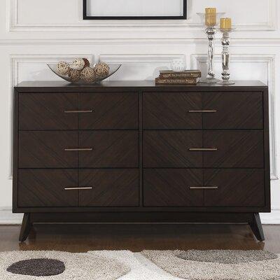 Metropole 6 Drawer Double Dresser