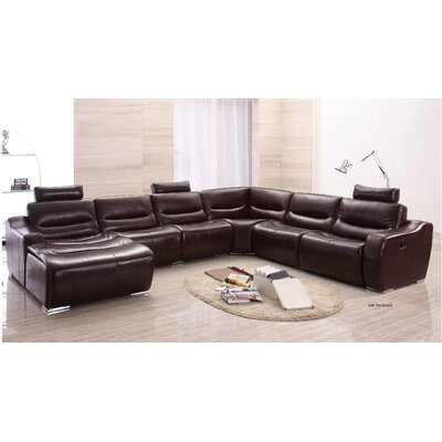 Leather Reclining Sectional