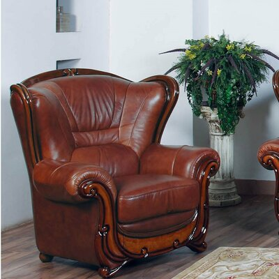 Wood Trim Club Chair