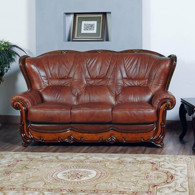 Wood Trim Sofa