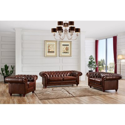 3 Piece Leather Living Room Set