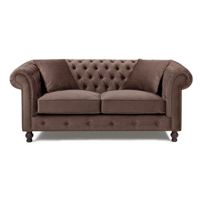 Microfiber Chesterfield Loveseat
