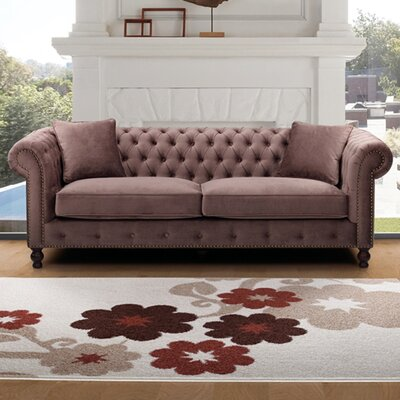 Microfiber Chesterfield Sofa