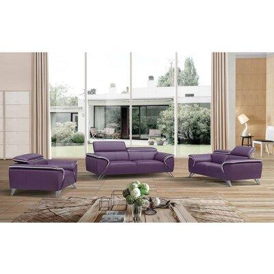 3 Piece Leather Living Room Set