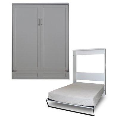 Delapaz Queen Murphy Bed Finish: Antique White