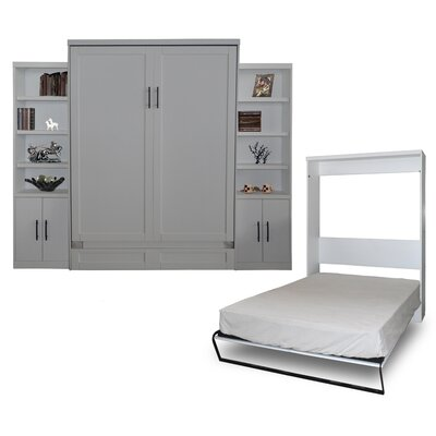 Delapaz Queen Murphy Bed Color: Antique White