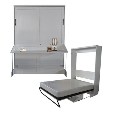Delapaz Queen Murphy Bed Color: Pearl White