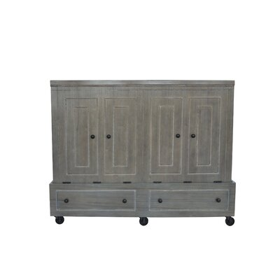 Queen Rolling Murphy Bed Finish: Gray